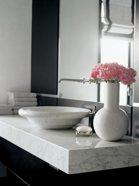 столешница в ванную из мрамора киев