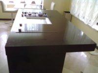 кухонная столешница из черного кварца
