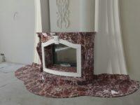 Камин из мрамора Rosso Levanto