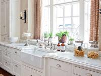 Кухонная столешница из кварцевого искусственного камня - фото